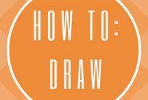 HOW TO DRAW / How to draw flowers, how to draw plants