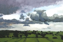 "Landscape Paintings I admire / ""Mere colour, unspoiled by meaning, and unallied with definite form, can speak to the soul in a thousand different ways"" - Oscar Wilde / by Kim Eleanor Stonehouse"