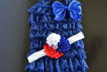 4th of July - Your Final Touch Hair Accessories / Fourth of July headbands and rompers for your little ones.