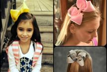 5 inch Hair Bows / 5 inch hair bows are handmade with 2 1/4 inch ribbon and come securely attached you choice of a partially lined alligator clip or fully lined barrette.