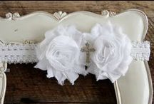 Shabby Chic Headbands -Your Final Touch Hair Accessories / Shabby head bands designed with soft, stretchy bands and hard satin wrapped headbands. Available for newborn baby girls to adult women.