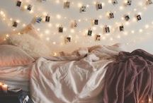 Bedroom / Bohemian inspiration for my cozy college livingspace