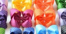 4 inch hair bows - Your Final Touch / 4 inch hair bows are handmade with 1 1/2 inch ribbon and come attached to your choice of an alligator clip, snap clip or barrette. Alligator clip and snap clip come with a no slip grip.