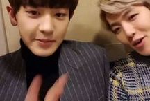 "ChanBaek /   ""Meeting you in this crowded world was the best thing ever""  C H A N B A E K"