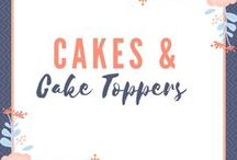 Wedding Cakes & Cake Toppers / A board dedicated to wedding cakes and toppers. Find ideas and inspiration for your wedding cake and wedding cake topper. Browse personalized cake toppers, rustic cake toppers, and many more.