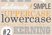 Typography / Modern and vintage typography inspiration, handwritten fonts, font trios, symbols, and trends.