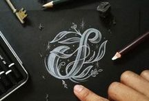Lettering + Word Art / Hand-lettering, modern calligraphy, hand drawn designs, and all forms of word art.