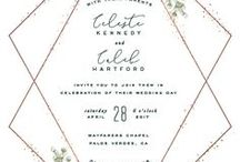 Wedding Stationery Design / Minimalist, elaborate, trendy, wedding stationery design runs the gamut. I find wedding invitations and save the date cards to be irresistible. There are so many colors, formats, and themes, and I hope to capture them in this board.