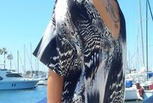 BOATing / printed silk contemporary womenswear