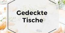 Gedeckte Tische / Ob im Alltag oder zu Feiertagen: Gedeckte Tische mit wunderbar rustikalem Touch #wirliebenholz
