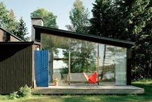 Getaway Houses: Woodsy Cabin / Ideas for our summer + winter house if we choose a wooded region.