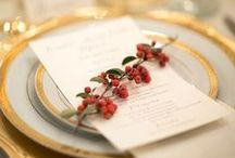 Winter Wedding Inspiration / Tis the Season to be Merrily Married! Winter weddings are the best and can so easily transform into a magical day with holiday inspired design.