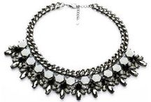 Black Statement Necklace / Hot black statement necklaces for women and girls.