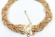 Golden Statement Necklace / Statement necklaces that are in gold tone.