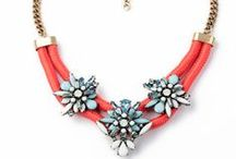 Red Statement Necklace / Statement necklaces are are in Red.