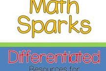 Math Sparks Grades 3, 4, 5 / Differentiating in Upper Elementary is easier with these Math SPARKS activities!  They are designed to be used during Math Workshop.
