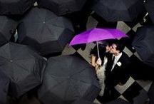 Grey + Rainy Day Weddings / Even though the weather has been unpredictable, these couples hearts are filled with love and sunshine. Nailing your rainy day wedding can be picture perfect!