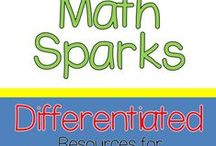 Math Sparks Grades K, 1, 2 / Differentiating for all levels of learners is easier with Spivey Sparks resources!  These activities and worksheets are designed to be used in Math Workshop with Early Learners in Kindergarten, 1st Grade, and 2nd Grade.
