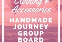 Handmade Clothing & Accessories - Etsy Group Board / Handmade Clothing & Accessories is a board that consists of handmade clothing, bags, purses, shoes and more. Please don't post jewelry here.  It should be posted in the Handmade Jewelry group.  Each group collaborator can post up to 5 of their best products.  Please keep it family friendly.  If you are interested in joining the group board please join the Handmade Journey community here:  http://handmadejourney.com/group
