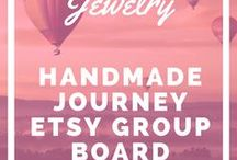 Handmade Jewelry - Etsy Group Board / Handmade Jewelry is a board that consists of handmade necklaces, bracelets, rings, earrings and more. Each group collaborator can post up to 5 of their best products. Please keep it family friendly. If you are interested in joining the group board please join the Handmade Journey community here: http://handmadejourney.com/group