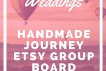 Handmade Weddings - Etsy Group Board / Handmade Weddings is a board that consists of handmade wedding decor, gifts, mementos, clothing, accessories and more. Each group collaborator can post up to 5 of their best products. Please keep it family friendly. If you are interested in joining the group board please join the Handmade Journey community here: http://handmadejourney.com/group
