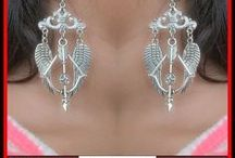 xTc-Jewelry.com | Earrings / Handcrafted charms earrings are unique and beautiful. Fun to wear and make a statement. #earrings #charmearrings
