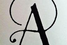 Typografie / Fonts / Eine Sammlung von Schriften / Fonts als wesentliches Element eines Logotypen.  A Collection of Fonts main Element of a Logotype.