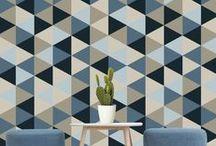 Papier peint / Wallpaper / Motifs, associations de couleurs, déco : la passion de Catalina Atelier pour les papiers peints!