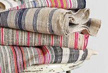 Tissus / Fabrics / Tissus colorés, texturés, rares, ethniques : quelques inspirations de tissus qu'on aime chez Catalina Atelier.