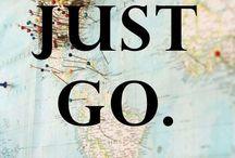 """Travel  / """"Ma i veri viaggiatori partono per partire e basta: cuori lievi, simili a palloncini che solo il caso muove eternamente, dicono sempre """"Andiamo"""" e non sanno perchè. I loro desideri hanno le forme delle nuvole""""."""