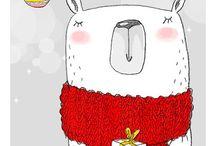 Christmas Illustration / Card ed illustrazioni per i tuoi pacchetti di Natale!