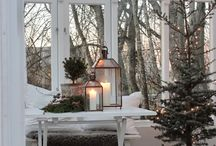 Nordic Christmas / Linee pulite e minimali per le case natalizie nel Nord Europa. Ispirati per creare angoli in perfetto nordic style!