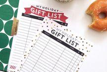 Christmas free printable / Liste e tag da stampare per sfuggire all'ansia dei regali di Natale!