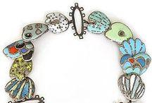 Enamel Jewelry / Studio jewelry utilizing vitreous enamel.