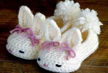 Crochet/Knit Booties-Slippers / by Denise Wade