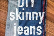 DIY Clothes / When you're bored with what you've got in your closet, deconstruct and make it new again!