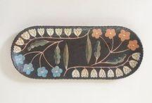 Ceramics - Vessels / Handbuilt or thrown. Carved, painted or glazed.