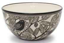 Ceramics - Sgraffito / Carving in clay.