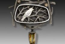 Jewelry - Suzanne Williams / Layered pictorial jewelry by artist Suzanne Williams, nature inspired.