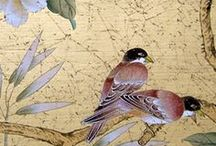 Chinoisserie / birds & flowers - on the wall plus more