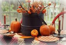 Fall Decor w/ Pumpkins