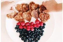 Kid friendly food / Little food ideas - recipes for the kids to whip up themselves, or get some sneaky extra nutrition into picky eaters (that's you Alfie!).  / by Kylie Jensen-Smith