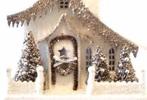 Christmas Snow/Glitter Houses