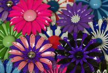 Costume Jewelry--Enamel Flowers / by Micheale Davis