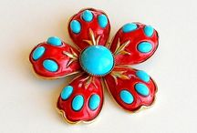 Costume Jewelry--Enamel Flowers / by Micheale Davis