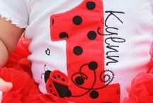 Baby Kailyn's ladybug BD party ideas