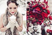 Winter wedding - magenta - red