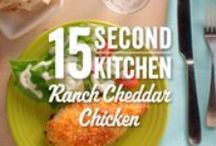 15 Second Kitchen Videos / Welcome to our 15 Second Kitchen, where recipes are simple, and dinner is never very far away! / by Hidden Valley