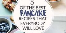 Delicious pancake recipes / This board contains pancake recipes from vegan pancake, Dutch pancakes, fluffy pancakes, crepes, 3 ingredient pancakes, banana pancakes, blue berry pancakes or peanut butter pancakes. Great for lunch and breakfast.