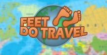 Feet that travel the world / Awesome, inspirational bloggers who travel the world and share their adventures!
